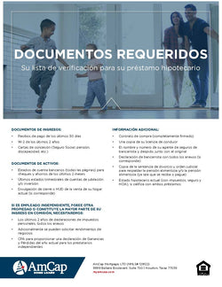 AmCap Required Documents Flyer - Spanish (FREE DOWNLOAD)