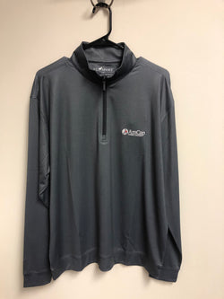 Black & Charcoal Bamboo Performance Pull-Over