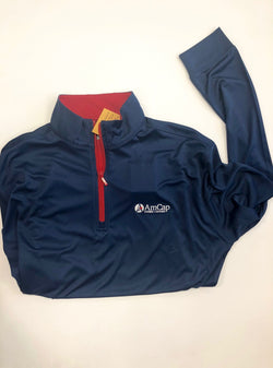 Blue Long-Sleeved Pull-Over