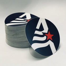 AmCap Round Stickers