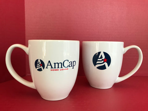 AmCap Coffee Mug - White Bistro