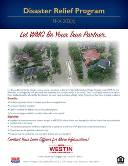 WMG Disaster Relief Loan Program Flyer