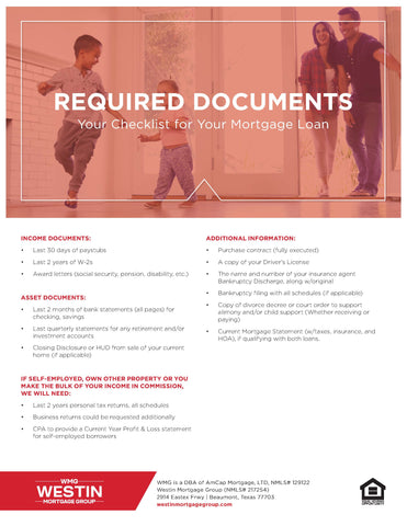WMG Required Documents Flyer (FREE DOWNLOAD)