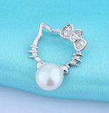 Silver Necklace With Fresh Water Pearl Pendant