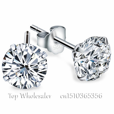 Silver Earrings With Zirconia Diamond
