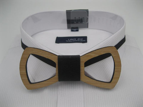 Geometric Hand Made Wooden Bow Tie