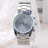 Luxury Brand Crystal Stainless Steel Watch