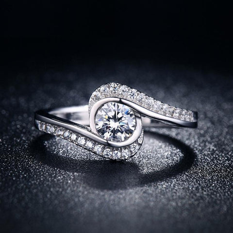 Silver Rings with CZ Diamond