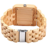 Men Wooden Quartz Watch With Calendar Display