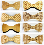 Fashion Geometric Wooden Bow Tie