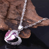 Silver Necklaces With Heart Pendant