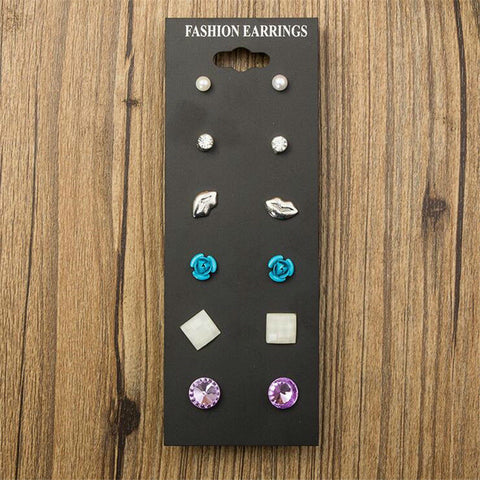 Claire Fashion 6 Pair Stud Earrings For Children