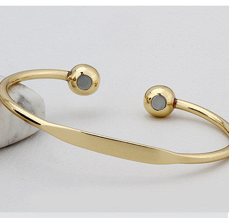 Gold and Rose Plated Magnetic Healing Bracelet