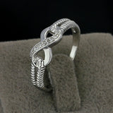 Silver Ring With Cubic Zirconia Cristal