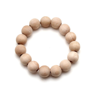 All Natural Wood Bead Bracelet