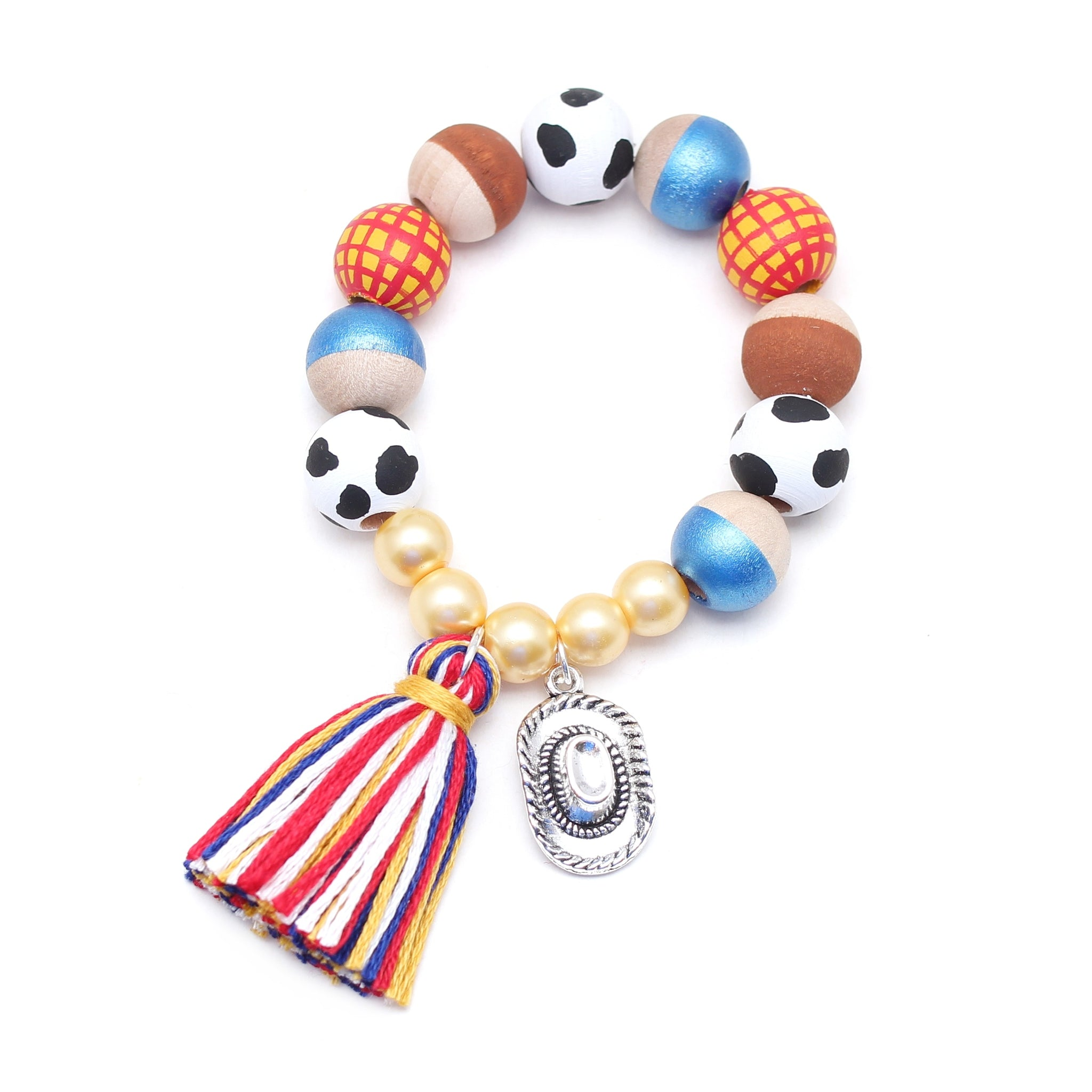 Woody Inspired Charm and Tassel Hand Painted Bracelet