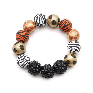 Wild Animal Hand Painted Bracelet