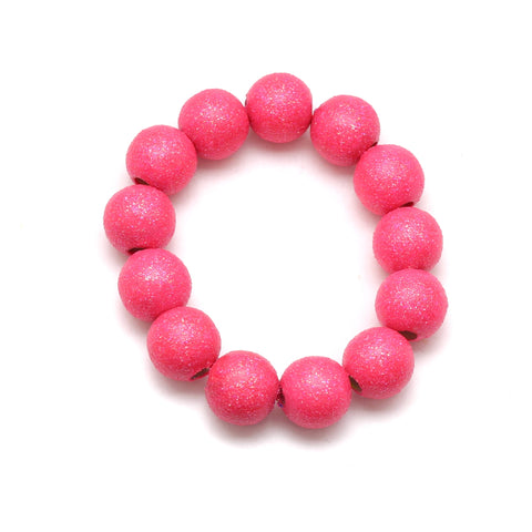 Neon Pink All That Glitters Hand Painted Bracelet