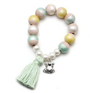 Tiana Inspired Charm and Tassel Hand Painted Bracelet