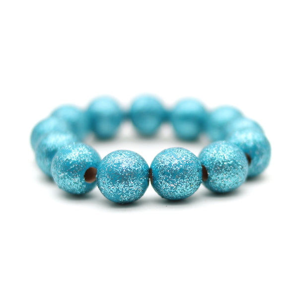 Turquoise All That Glitters Hand Painted Bracelet