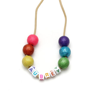 Personalized Bright Rainbow Hand Painted Necklace