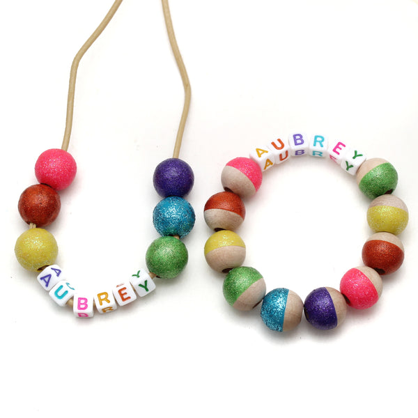 Personalized Bright Rainbow Hand Painted Bracelet