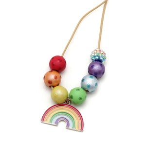 Rainbow Charm Hand Painted Necklace