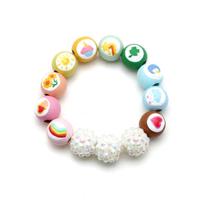 Care Bears Inspired Hand Painted Bracelet - Care Bears Collab