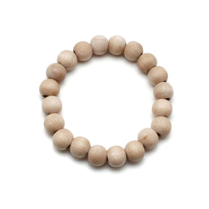 Petite All Natural Wood Bead Bracelet