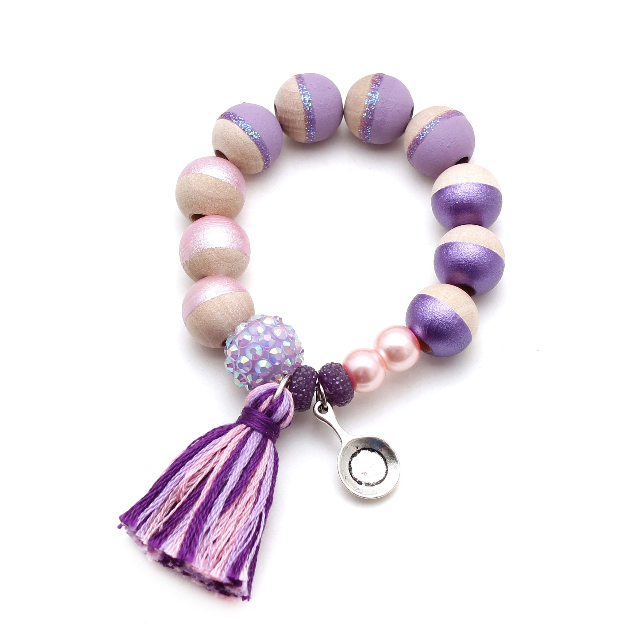 Rapunzel Inspired Charm and Tassel Hand Painted Bracelet