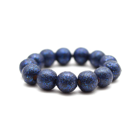 Navy All That Glitters Hand Painted Bracelet