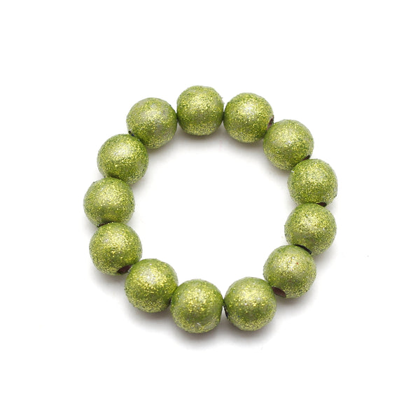Chartreuse All That Glitters Hand Painted Bracelet