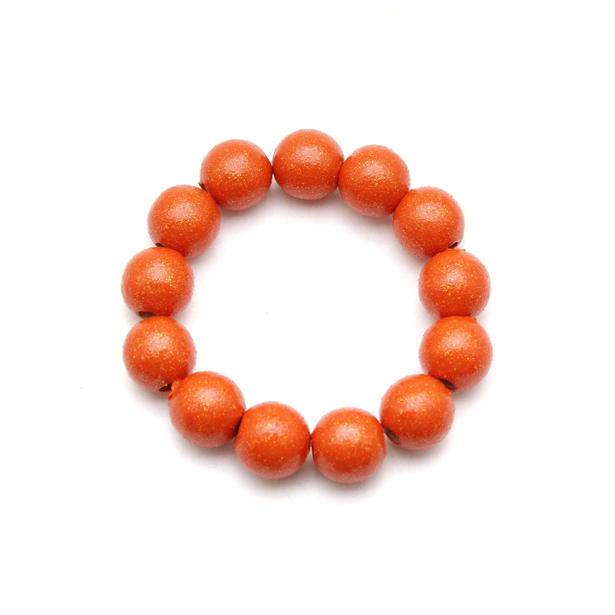 Orange All That Glitters Hand Painted Bracelet