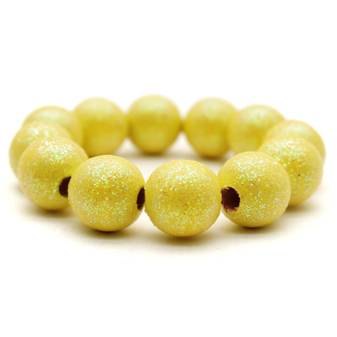 Lemon All That Glitters Hand Painted Bracelet