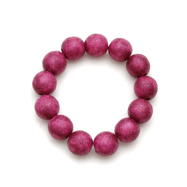 Magenta All That Glitters Hand Painted Bracelet