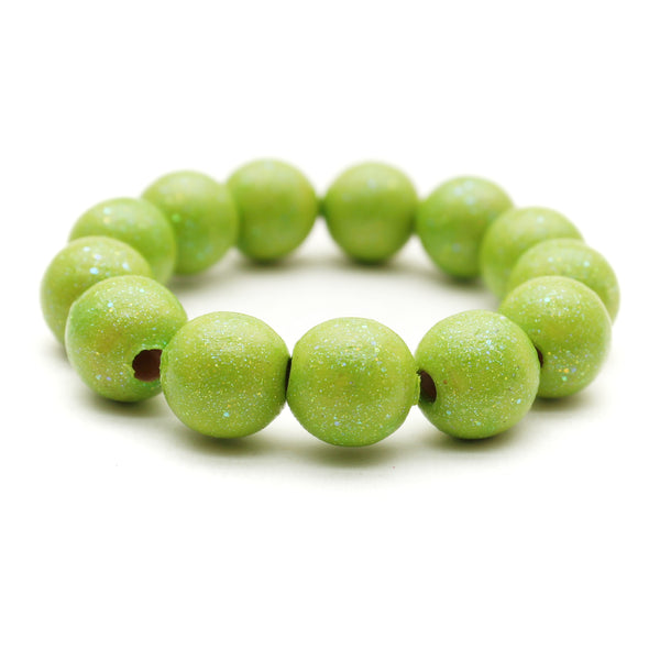 Lime All That Glitters Hand Painted Bracelet