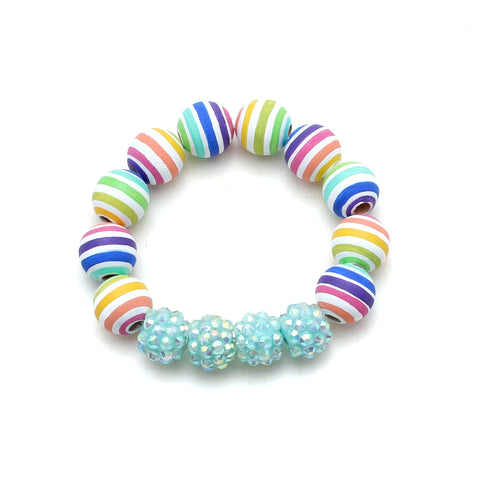 Rainbow Stripes Hand Painted Bracelet
