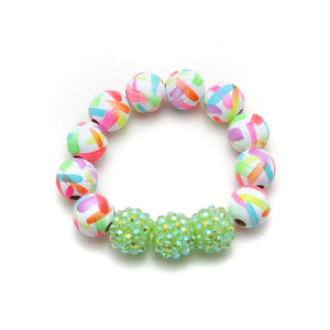 Neon Brush Strokes Hand Painted Bracelet - Summer