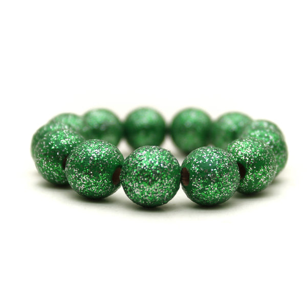 Green All That Glitters Hand Painted Bracelet