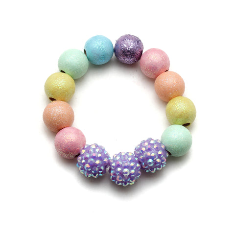 Pastel Rainbow All That Glitters Hand Painted Bracelet