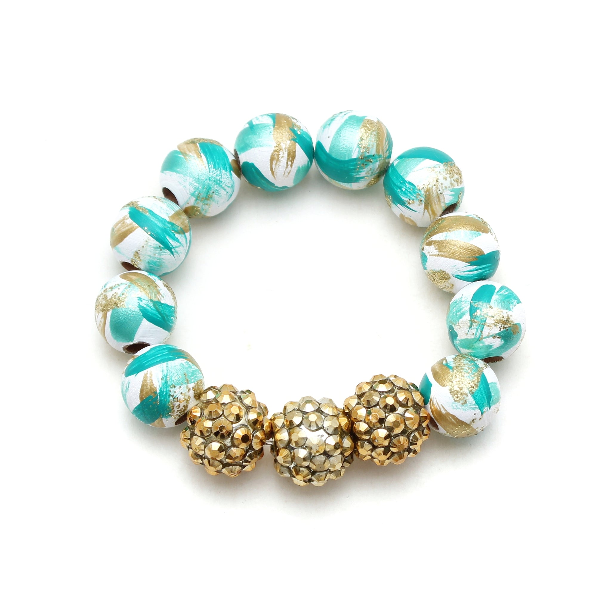 Jasmine Inspired Brush Strokes Hand Painted Bracelet