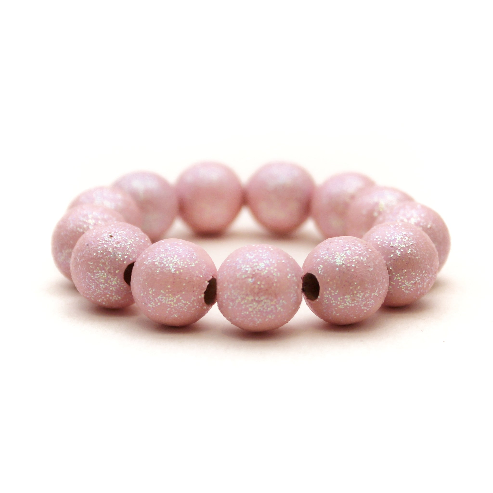 Pale Pink All That Glitters Hand Painted Bracelet