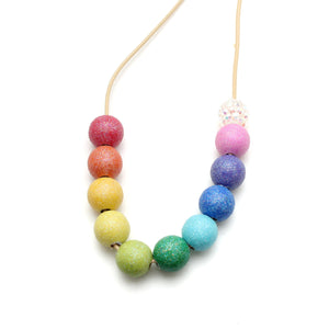 Cocomelon Rainbow Hand Painted Necklace