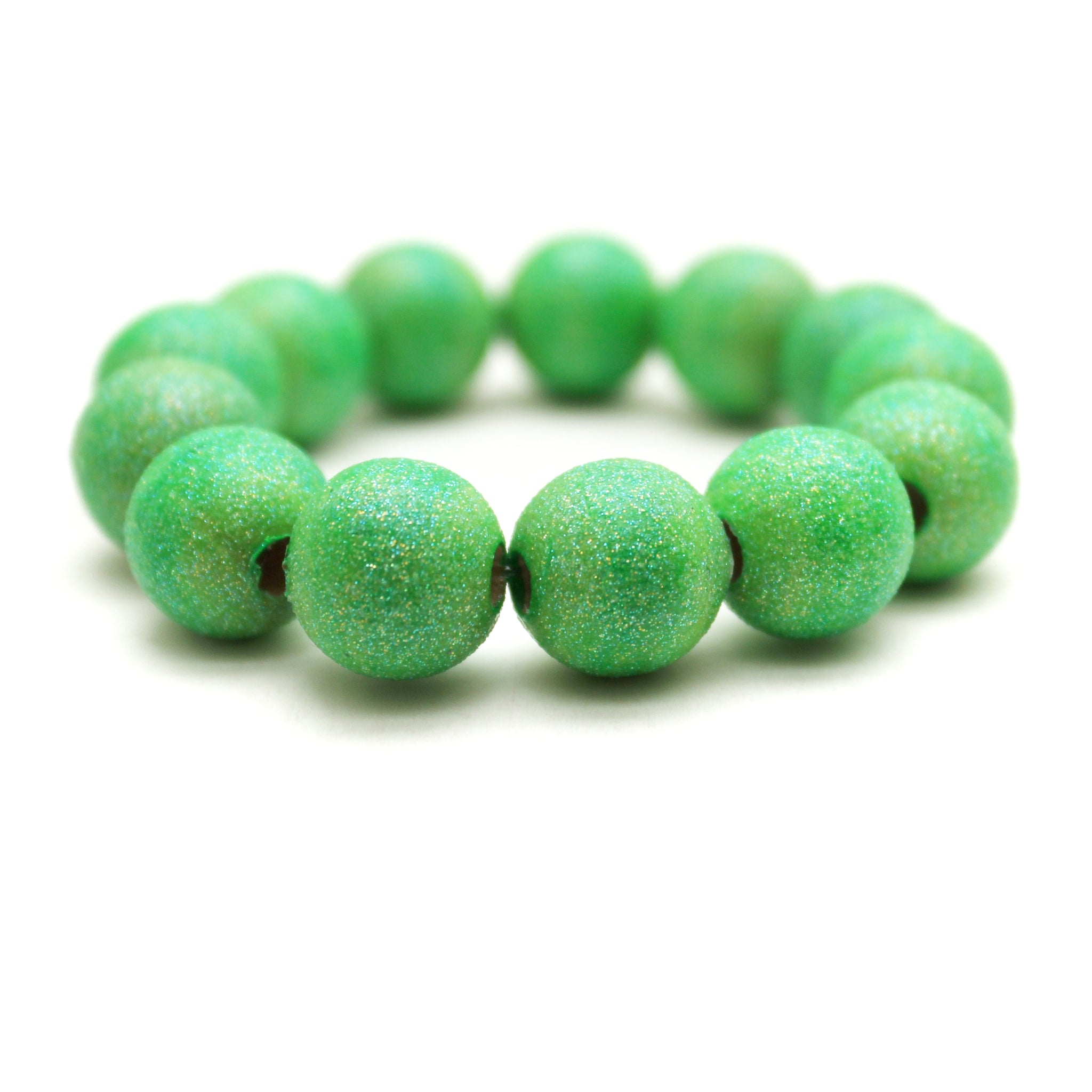 Neon Green All That Glitters Hand Painted Bracelet