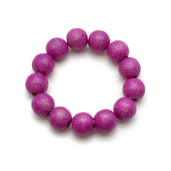Neon Purple All That Glitters Hand Painted Bracelet
