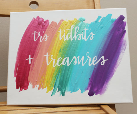 Hand Lettered, Hand Painted Canvases