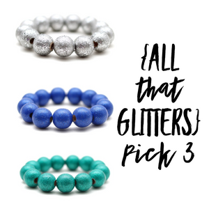 All That Glitters Pick 3 Stack and Save Hand Painted Bracelets