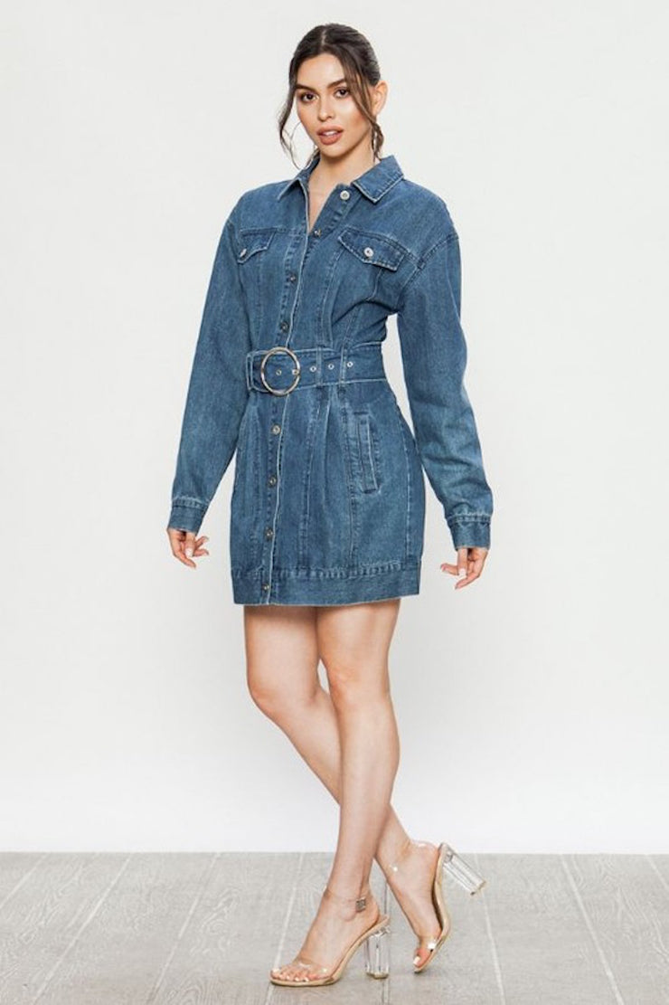 Unforgettable Denim Dress
