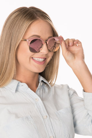 Browline Sunglasses - Pink