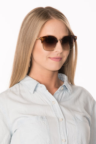 Browline Sunglasses - Tortoise